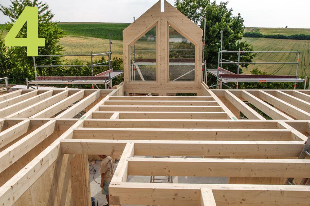 Rohbau beim massiven Bauen mit Holz
