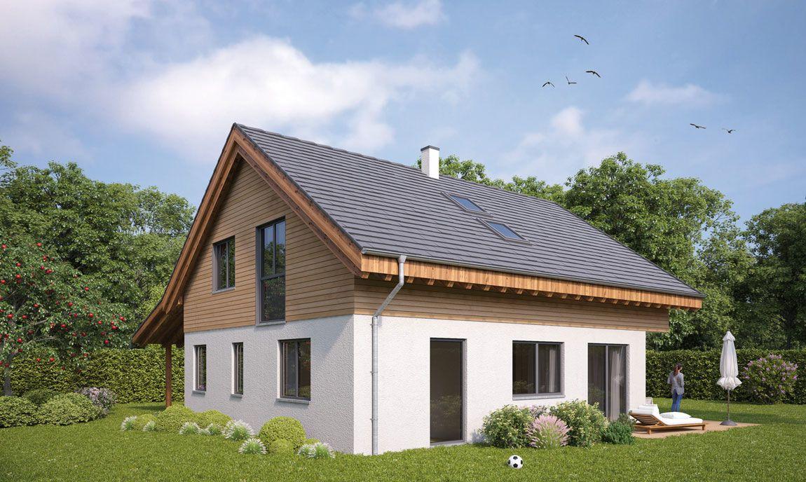Entwurf Einfamilienhaus gebaut von Rems-Murr-Holzhaus