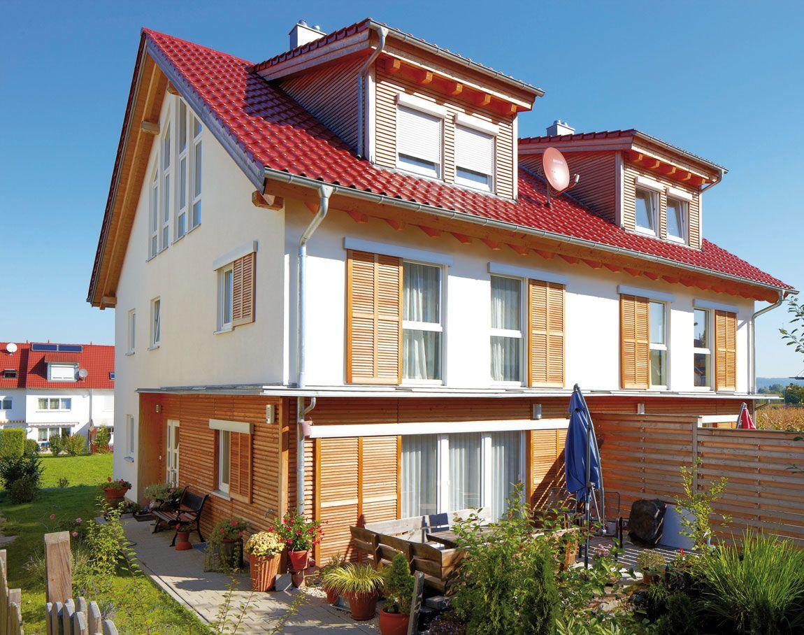 Mehrfamilienhaus gebaut mit der Holzmauer