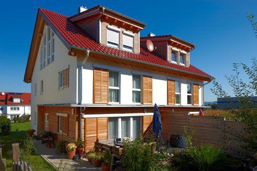 Doppelhaus in massiver Holzbauweise