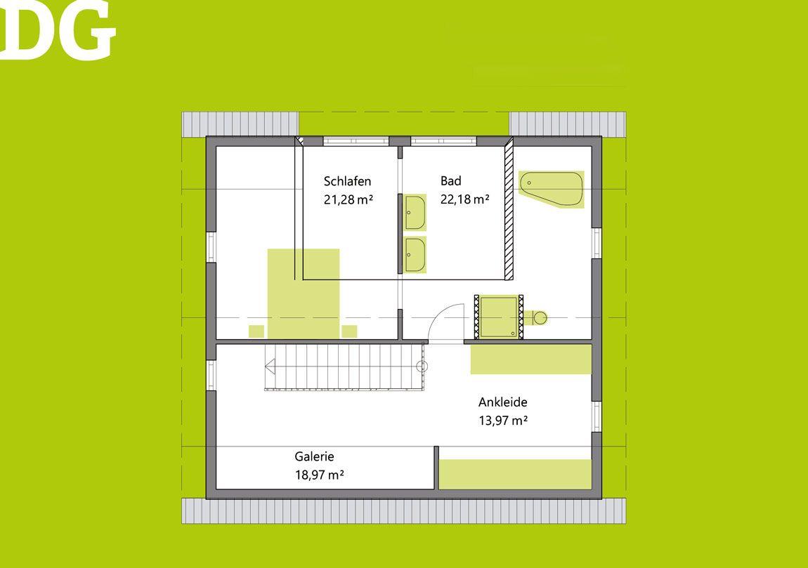 Grundriss 2 Einfamilienhaus Berglen