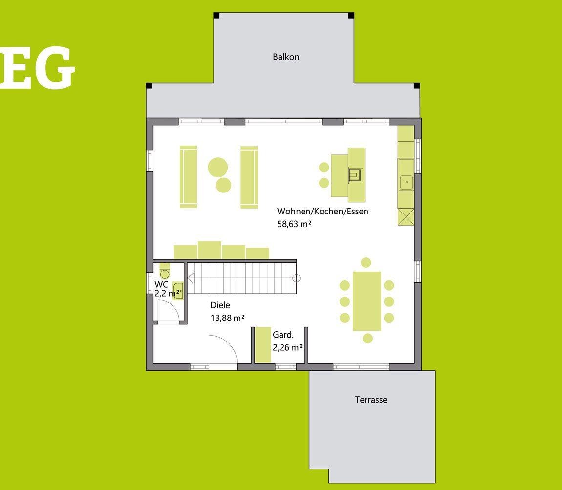 Grundriss Einfamilienhaus Berglen