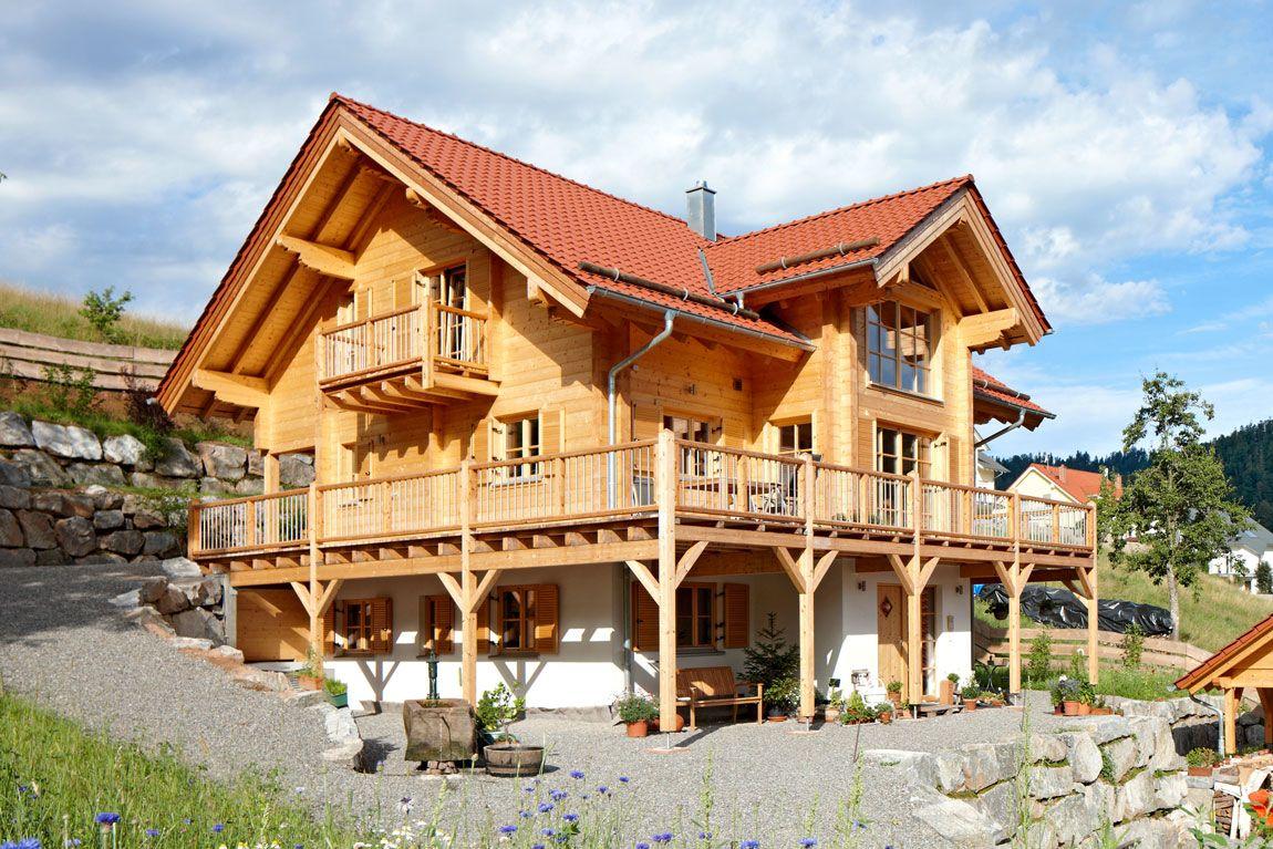 Haus in Blockbauweise